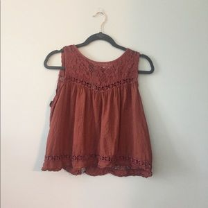 Pacsun Burnt Orange Open Back Top